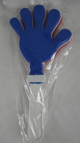 "12 7.5"" Hand Clappers - Red, White, Blue Colors"