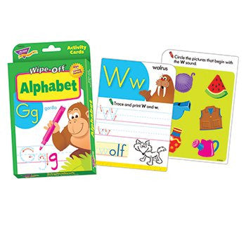 * ALPHABET WIPE OFF ACTIVITY CARDS