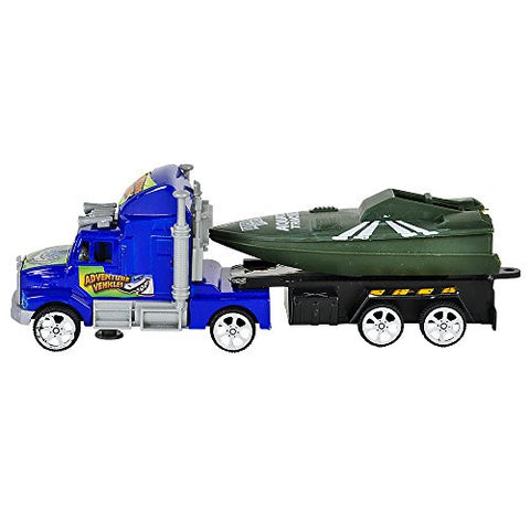 "(6x) 7.5"" Flatbed Truck Set w/ Boat in Tow"