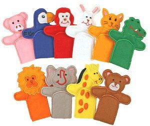 10 pc Felt Animal Finger Puppets by My Growing Season