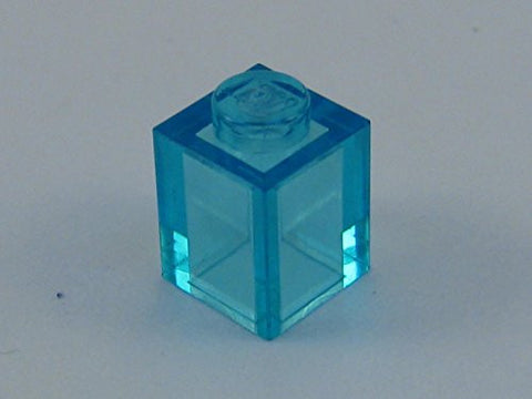 100x Lego Transpartent Light Blue (Trans-Light Blue) 1x1 Bricks Fun Pack