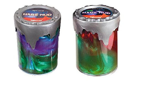 2 Pack of Mars Mud Toy Slime - 2 Different Colors