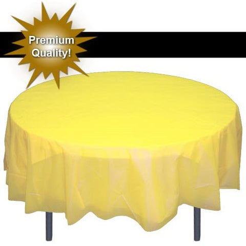*Premium* Round Light Yellow table cover