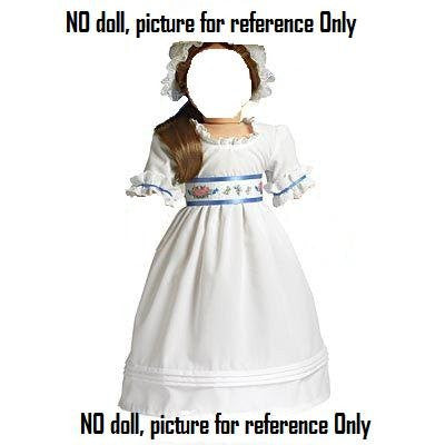 """Felicity's Summer Gown and Lace Cap"" for 18"" American Girl doll"