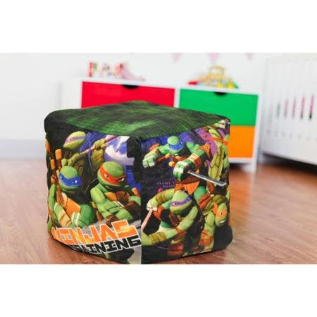 Nickelodeon Teenage Mutant Ninja Turtles Colorful, Innovative and Creative, Cube Bean Pouf, Indoor Kids Chair