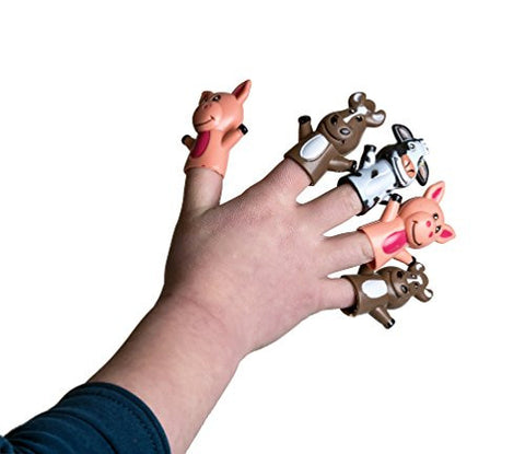 "1 Dozen 2"" Farm Animal Finger Puppets for Children, Finger Puppets for Small Hands - Puppet Show Sets, School Playtime , Stocking Stuffers, Themed Party Favors, Treat Bag Goodies"