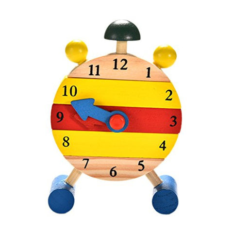 Baby Time Learning Wooden Clock Toy
