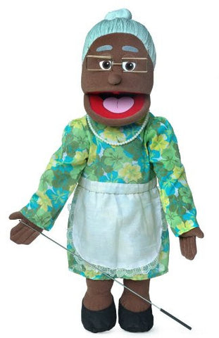 "25"" Granny, Black Grandmother, Full Body, Ventriloquist Style Puppet"