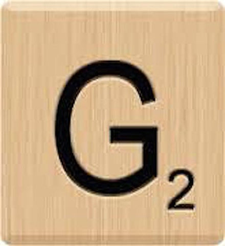 (10) GENUINE Scrabble Letter G Tiles, Scrabble for Crafts, Scrabble Game Piece G, 10 Letter G, Hardwood, Individual Scrabble A to Z IN Stock
