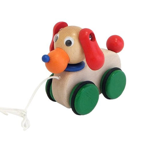 """Japanese-made wooden toys"" Purutoi * pretend pretend dog"