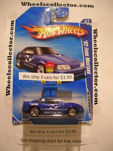 '92 FORD MUSTANG 2010 Hot Wheels Kmart Only Blue with 5 spoke D1