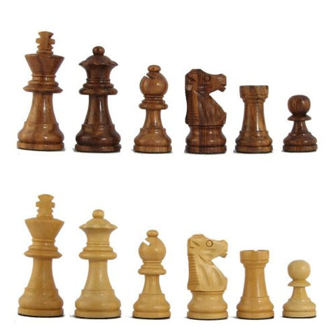 2 1/2'' MoW Honey Rosewood Executive French Staunton Chess Pieces