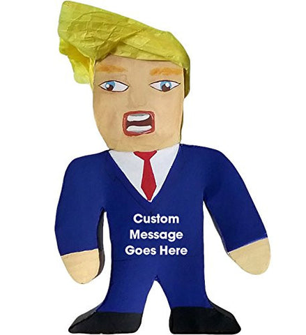 "10"" Mr. President Donald Trump Pinata, Candy-Filled Favor with Custom Message"