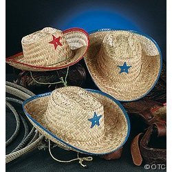 1 DOZEN KIDS COWBOY HATS WITH STAR GREAT FOR COWBOY THEME PARTIES