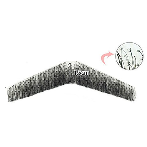 100% Human Hair Full Hand Tied Men Fake Beard Mustache for Party/film