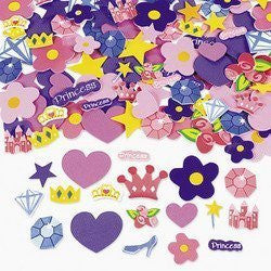 500 Self Adhesive Foam Princess Shapes - Stickers Children, Kids, Game