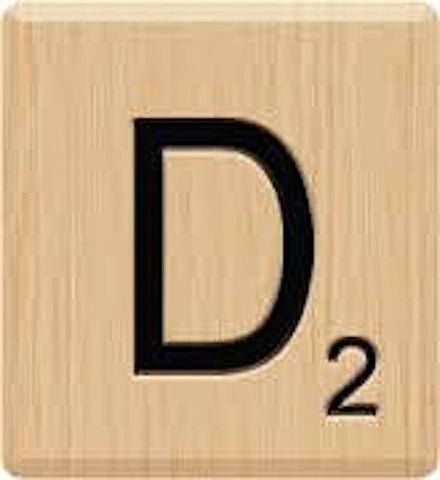 (10) GENUINE Scrabble Letter D Tiles, Laser Engraved, Scrabble, Crafts, Scrabble for Game Piece D, 10 Letter D, Hardwood, Individual Scrabble Tiles for Crafts, A to Z In Stock