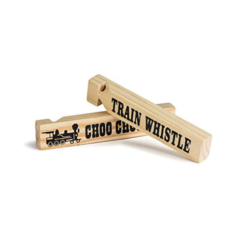 "1 Dz 5.75"" Wooden Train Whistles, Train Whistle for kids, Train Whistle Party Favors, Thomas The Train Themed Party Favors, Bulk Toys, Party Noisemakers, 12 Train Whistles"