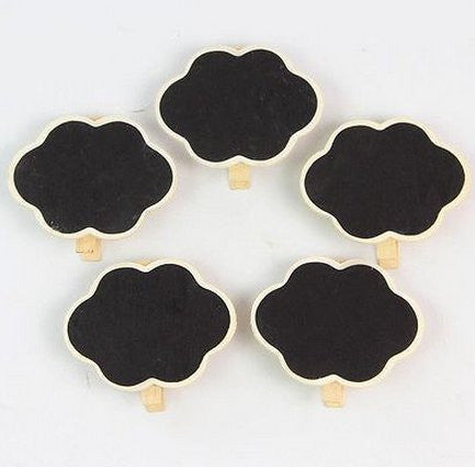 10Pcs Mini Clip Heart Blackboard/Chalkboard For Wedding/Party Message Board by Lovestore2555