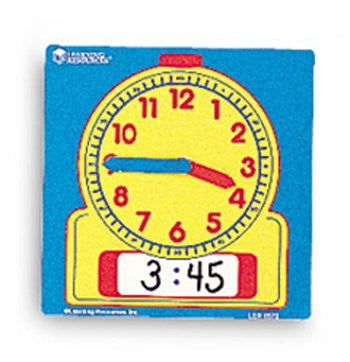 9 Pack LEARNING RESOURCES WRITE-ON/WIPE-OFF CLOCKS 10/PK
