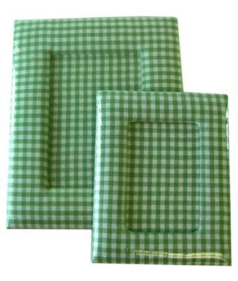 2 Piece Green Plaid Picture Frames - Desk Picture Frames