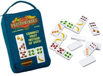 """Fruitominoes"" - Fresh Fruity and Colorful Game of Dominoes"