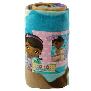 "1 X Fleece Throw - Disney - Doc McStuffins 45""x60"" Blanket New"