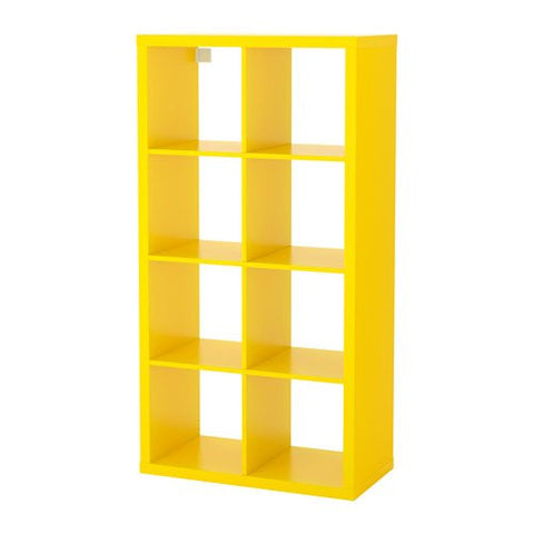 Ikea Shelf unit, yellow 1228.81111.3422