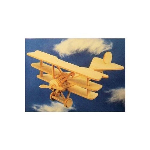 """ABC Products"" - Primitive Plane Model - Minature Balsa Wooden - Aircraft Kit - Fokker Tri-plane - German Fighter (1917) Plane Model - Known As The Red Baron Plane"