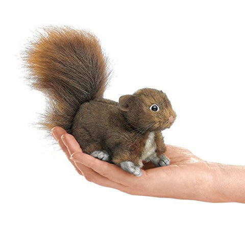 (Ship from USA) Red Squirrel Finger Puppet, Folkmanis Puppets MPN 2735, 3 & Up, Boys & Girls -ITEM#: G15/uiF982A19071