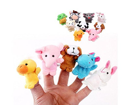 10 Pcs Finger Set Animal Puppet Set Toy children's Learn Play Story