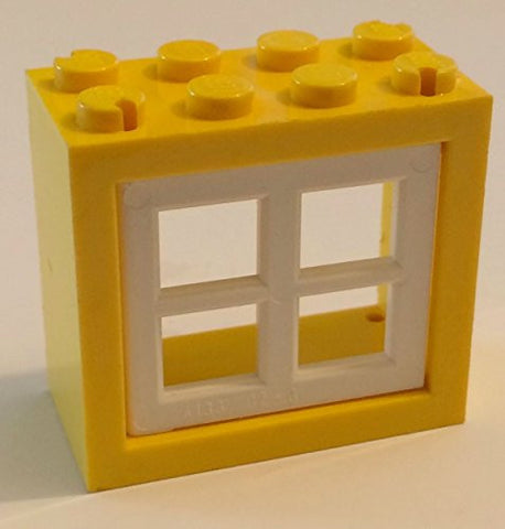 *NEW* Leggo YELLOW Window 2x4x3 with 1 WHITE PANE