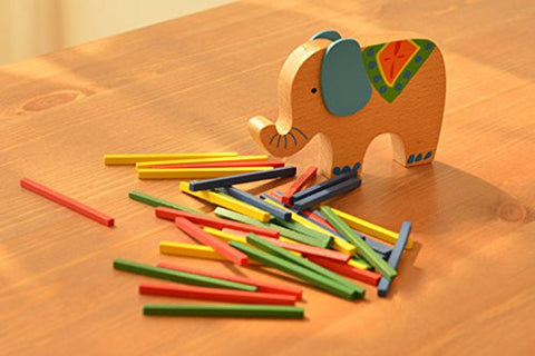 2B-better Educational Wooden Elephant Balancing Blocks Toys Gift for Child