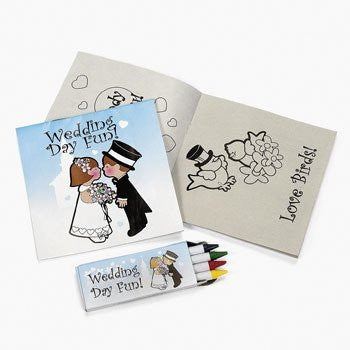 12 pack of Individually Packaged Children's Wedding Activity Sets Children, Kids, Game