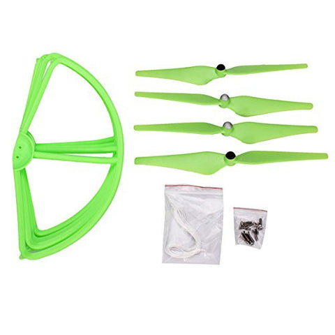 (Green) DJI Phantom 1 2 2V+ V303 CX-20 Propeller & Protection Cover Case WSX-003 Remote Control Flying Quadcopter Accessory