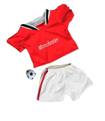 """Manchester"" Soccer Outfit with Ball Fits Most 8""-10"" Webkinz, Shining Star and 8""-10"" Make Your Own Stuffed Animals and Build-A-Bear"