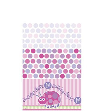1st Birthday Ladybug Plastic Table Cover