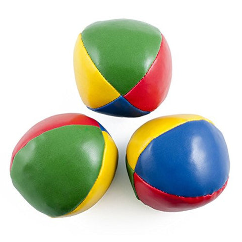 3 Pcs Multi-Colored Juggling Balls With Instructions Kids Begginer Juggle Ball Kit