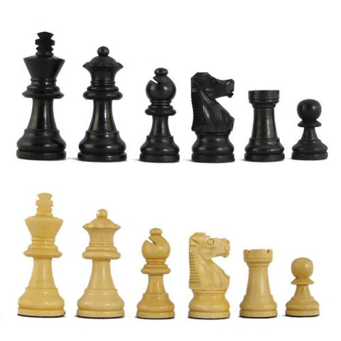 "2 1/2"" MoW Classics Ebonized Executive French Staunton Chess Pieces"