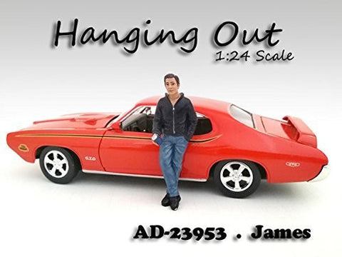 """Hanging Out"" James Figurine / Figure For 1:24 Scale Models by American Diorama 23953"