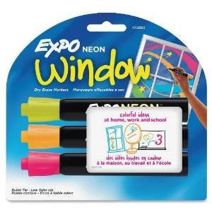 2 PACKS: Expo Neon Bullet Tip Dry Erase Markers, 3 Colored Markers