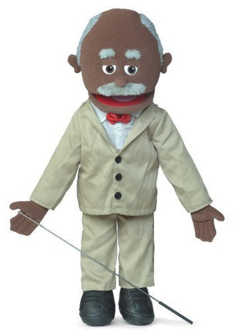 "25"" Pops, Black Grandfather, Full Body, Ventriloquist Style Puppet"