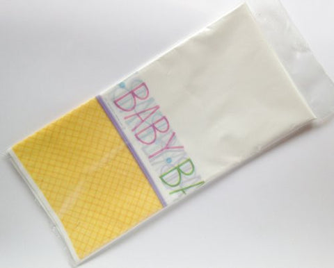 """Baby Phrases"" Baby Shower Party Decoration Waterproof Tablecover (54"" X 102"")"