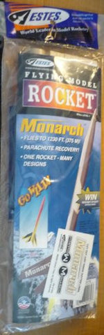 #2172 Estes Monarch Flying Model Rocket ,Needs Assembly