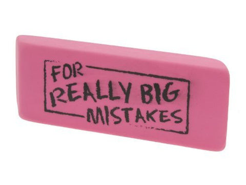 2 Extra Large 6'' For Really Big Mistakes Eraser (Qty. 2 Pack)