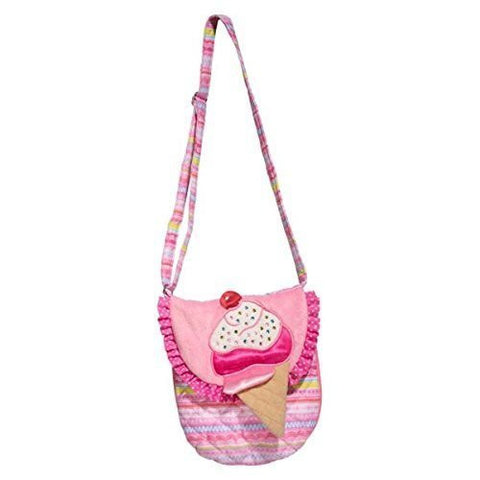 "8"" W, Pink Scoop Sparkle Crossover Purse"