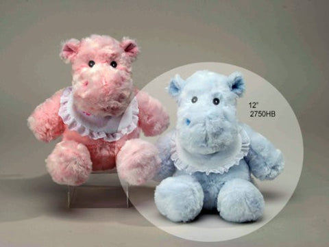 "12"" Blue Hippo Rattle"