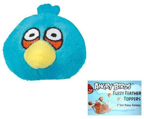 Angry Birds Plush - Fuzzy Feather Toppers - BLUE BIRD (2 inch)
