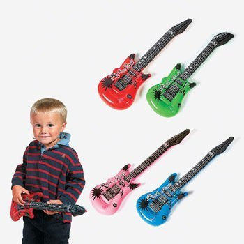 12-Pack Inflatable Rock Star Electric Guitar Children, Kids, Game