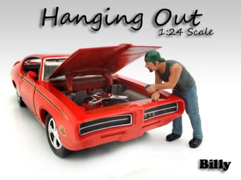 """Hanging Out"" Billy Figure For 1:24 Scale Models by American Diorama AD2-3958"